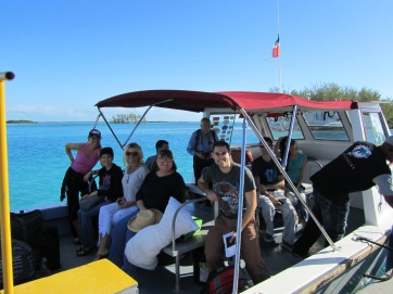 arriving in bimini on the water taxi