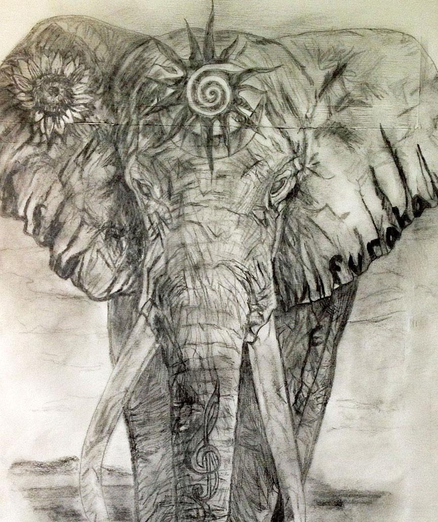 Elephant symbolism tania maries blog close up of integrated symbols into the elephant click on image to enlarge buycottarizona Gallery