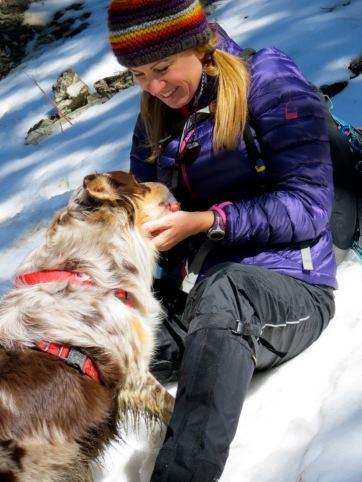 lynne and dog