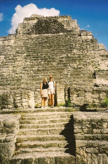 lynne at mayan ruins