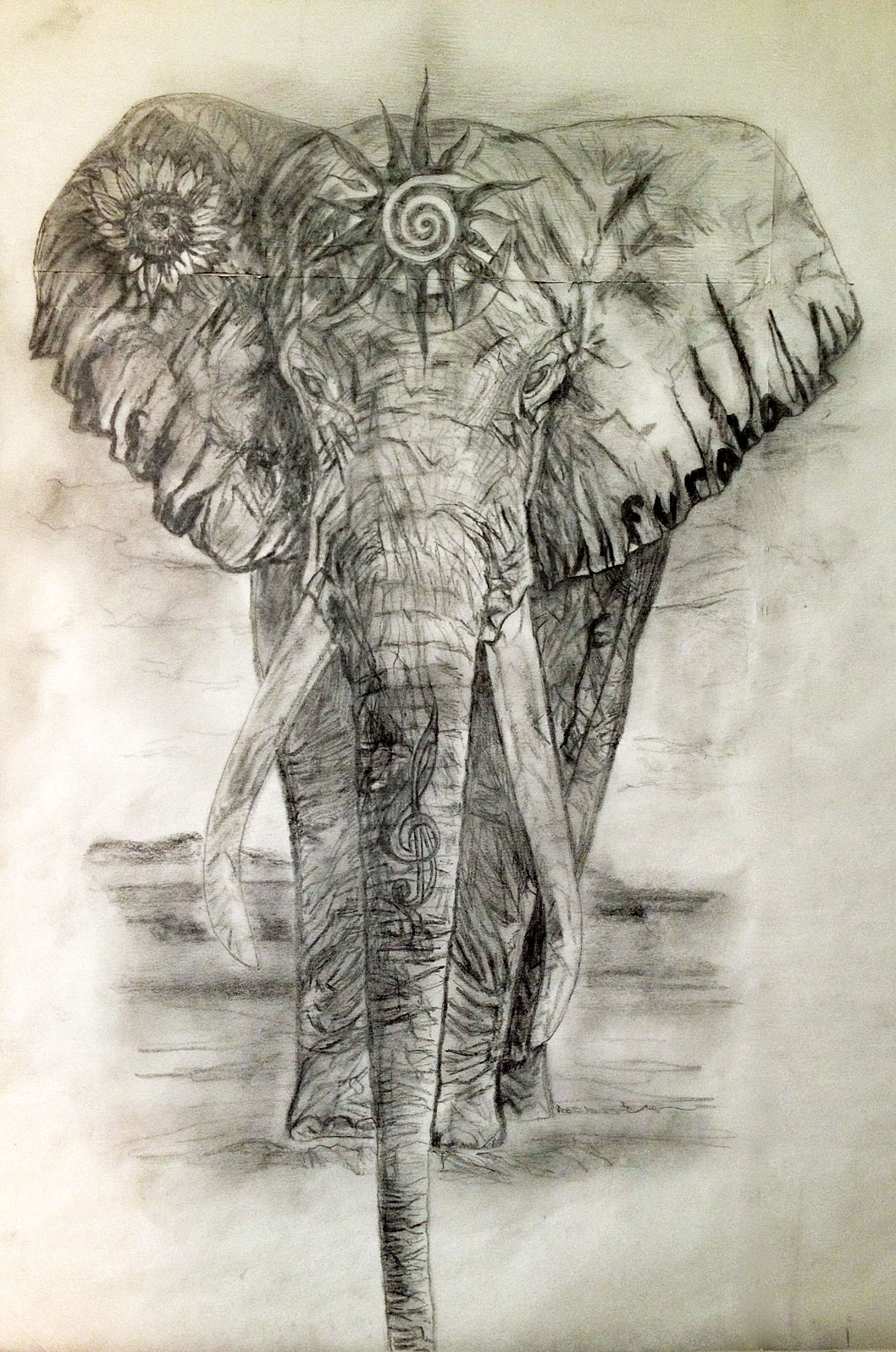 Sacred Elephant Tattoo Design for the Heart Chakra | Tania ...