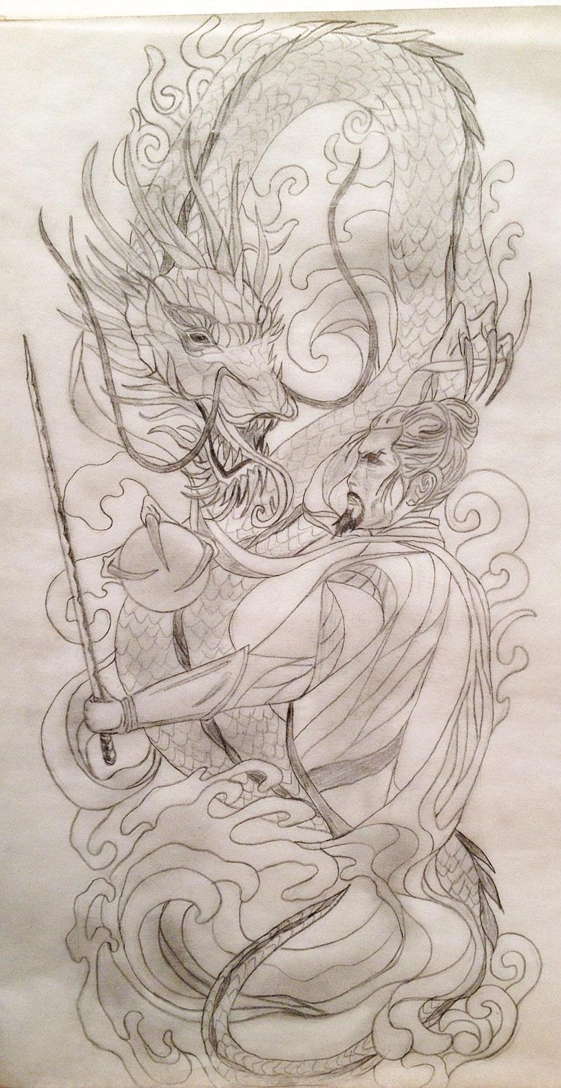 Sacred Samurai Dragon 34 Sleeve Tattoo Design Tania Marie