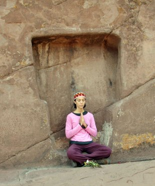 meditating at the stargate in peru
