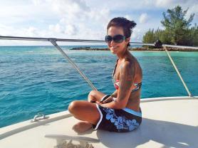 me on boat in bimini