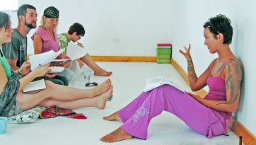 Tania teaching Reiki