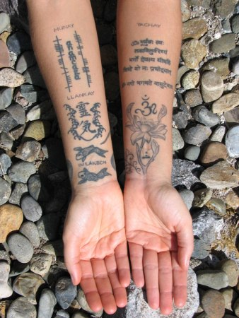 My sacred arm tattoos