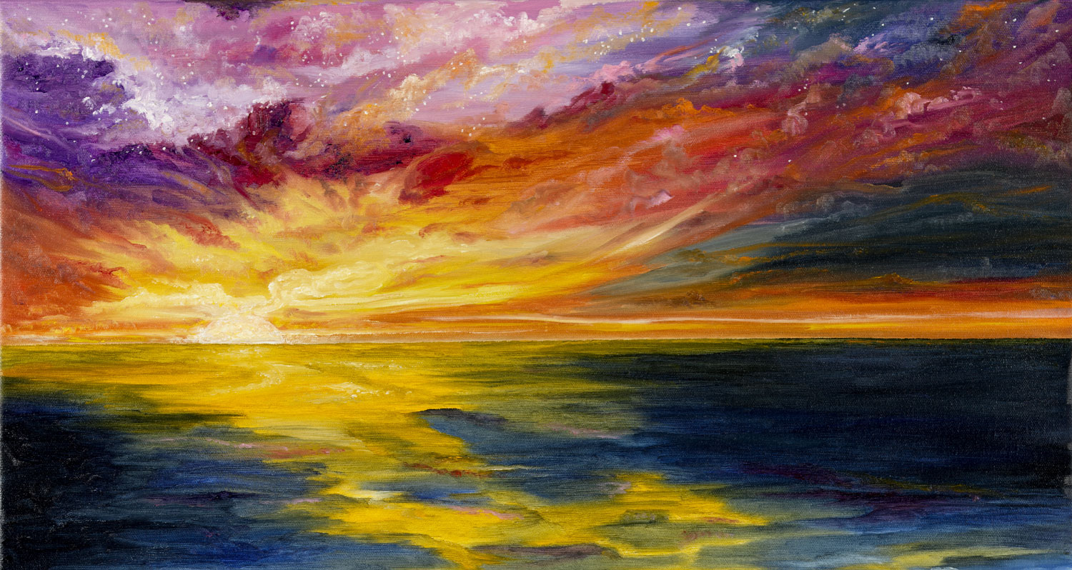 sunset over ocean paintings | Tania Marie's Blog