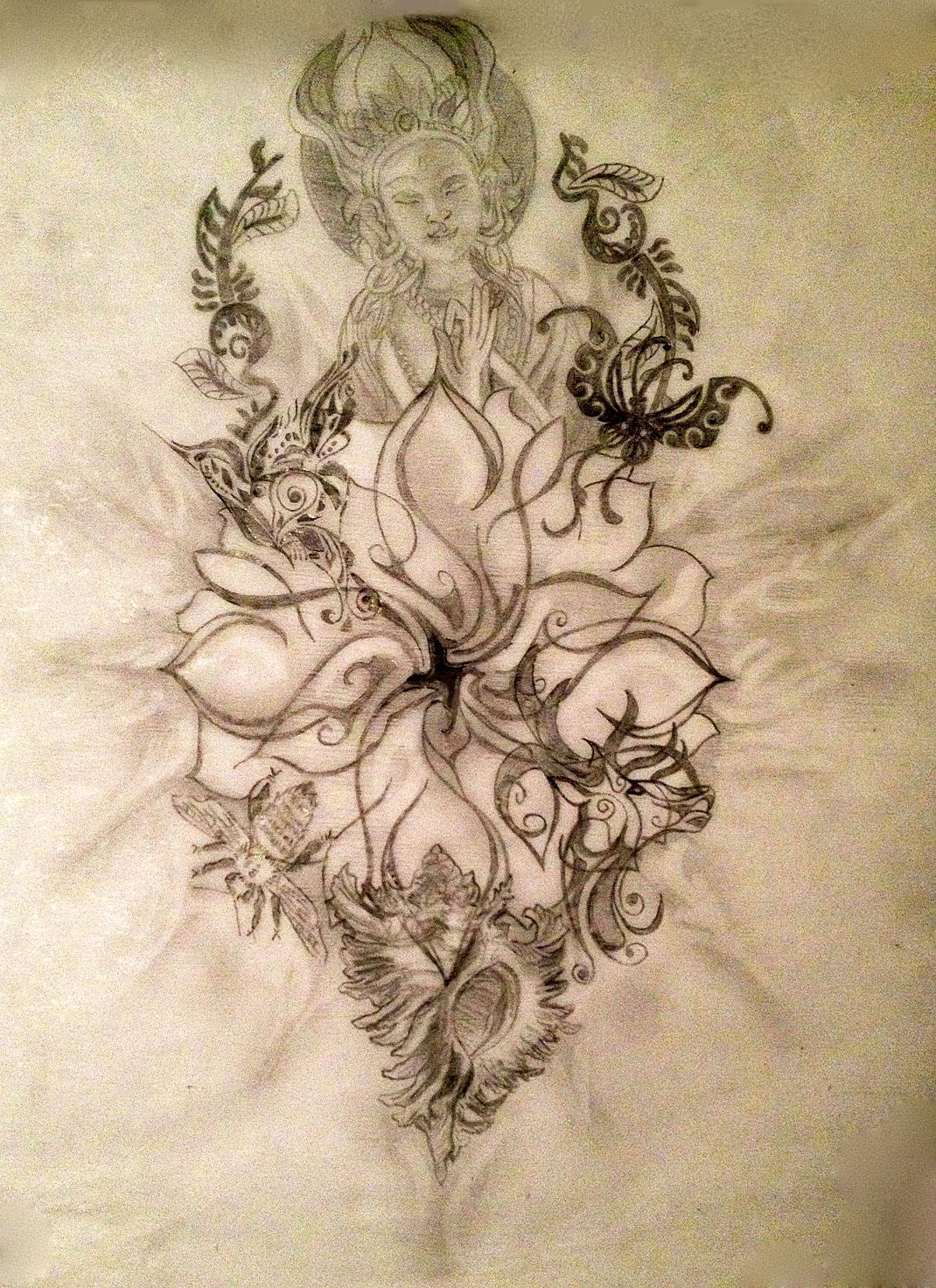 Lotus symbolism tania maries blog sacred tattoo design 2 izmirmasajfo Gallery