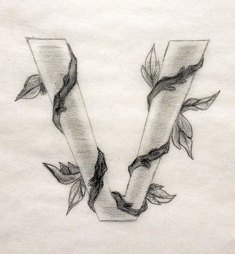 V For Vegan Pure Simple Sacred Tattoo Design Tania Maries Blog