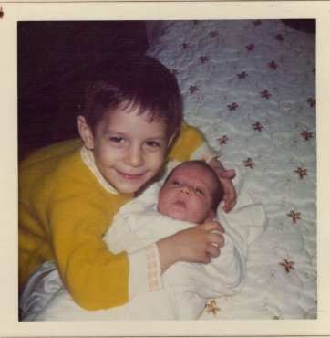 me and brother few days after birth