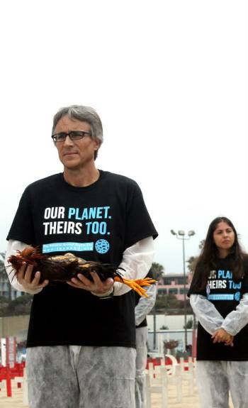 David at the 3rd National Animal Rights Day in LA