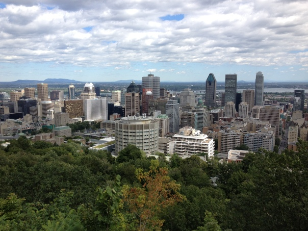 montreal city view from mount royal