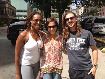 Shonna, John and Tania