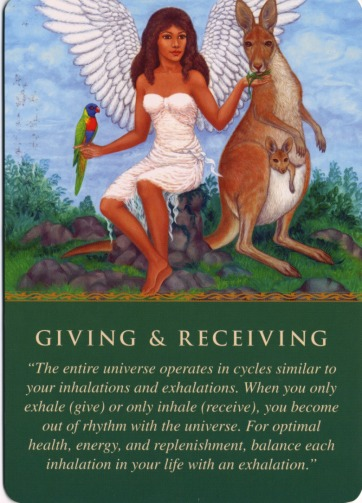 Giving & Receiving Oracle Card - Doreen Virtue