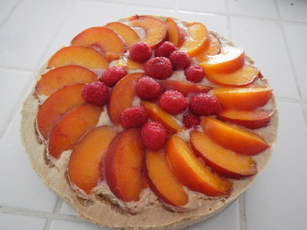 Peach melba cheezecake
