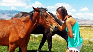Tania and wild mustangs
