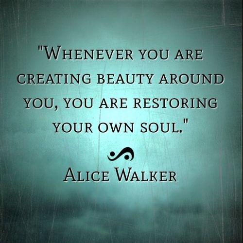 creating beauty