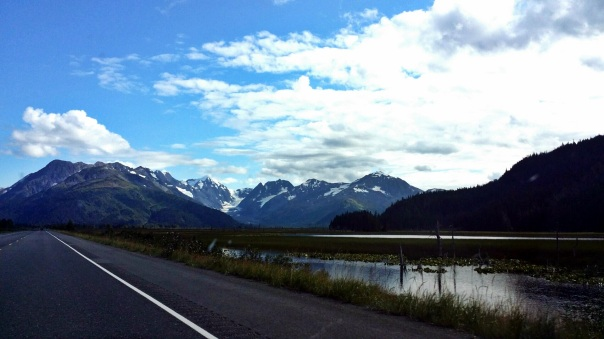 driving view to anchorage