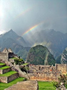 machu picchu double rainbow