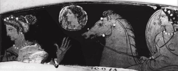 Nyx, Hesperus & Selene, gods of night, star & moon