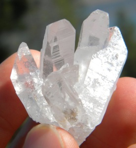 Self Healed Arkansas CLEAR QUARTZ CLUSTER With Mega Rainbows2