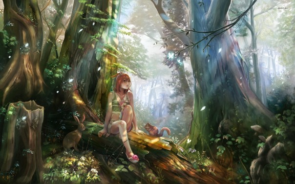 girl-in-the-magical-forest-anime-wallpaper