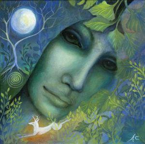 Goddess Flidais. Art print by Amanda Clark