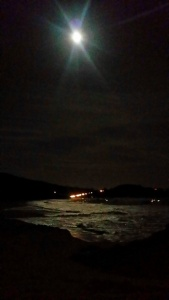 full moon beach walk