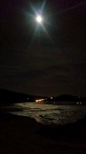 full moon beach walk