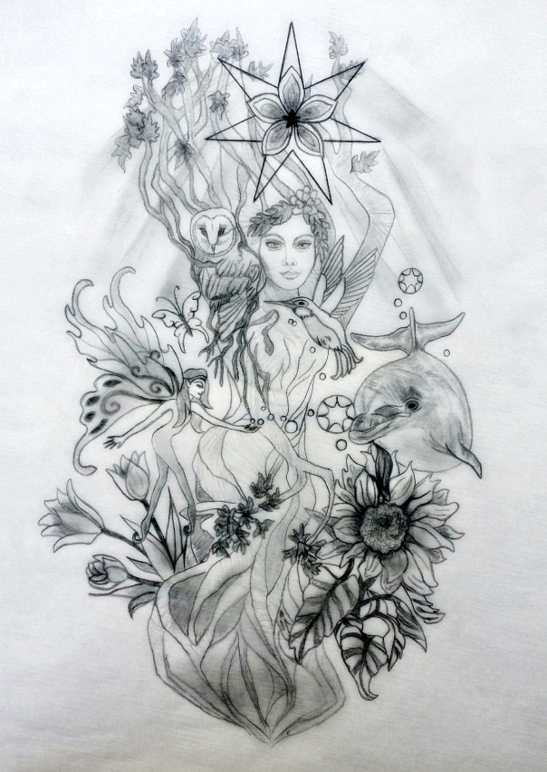 Nora Sacred Tattoo Design