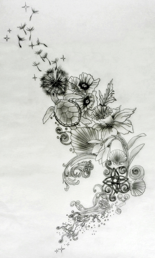 Sacred Tattoo Design Back