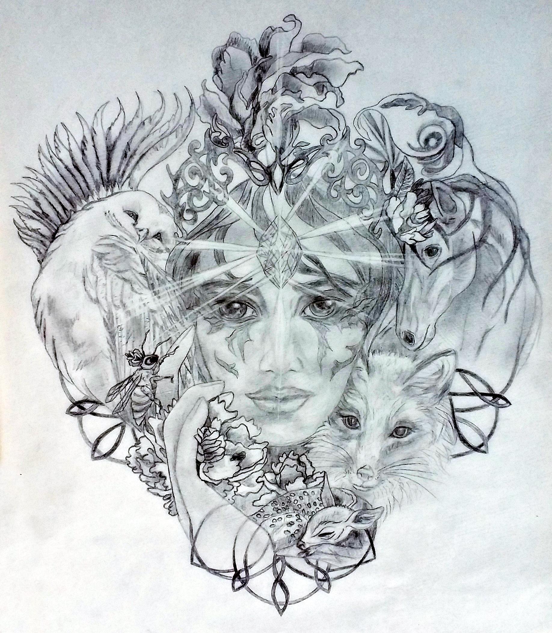 Aymey Sacred Tattoo Design