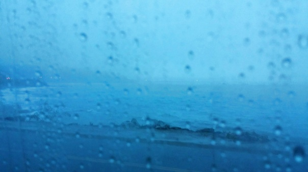 rain and ocean