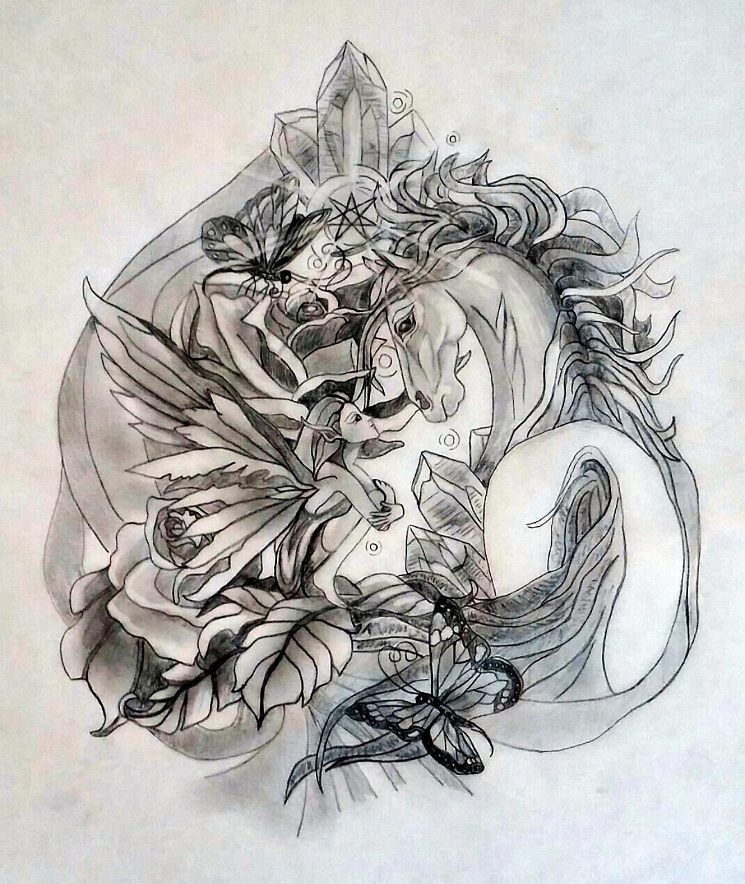 Rose Sacred Tattoo Design