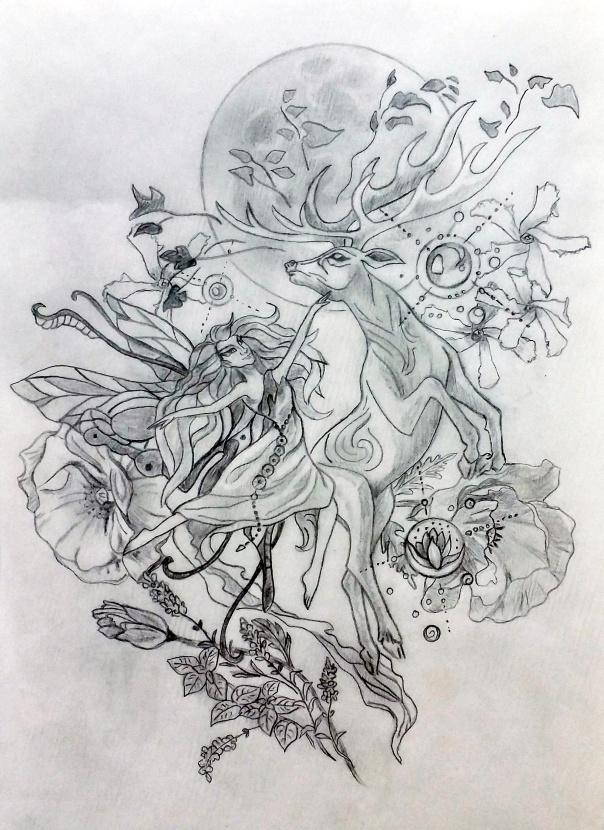 Mellissa Sacred Tattoo Design