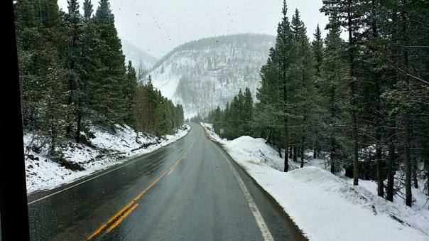 snow storm drive