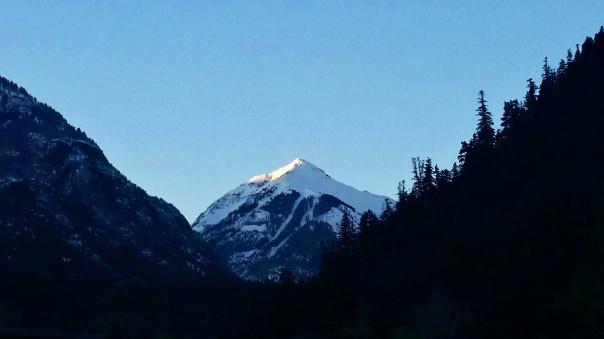 sun rise on the peak
