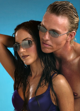 sunglass ad for magazine
