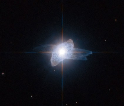 flash of light from a dying star