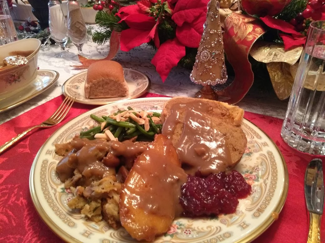 vegan christmas feast